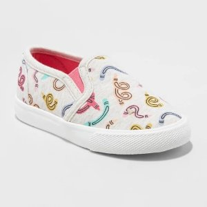 44252c6b9 Toddler Girls' Mady Slip on Canvas Sneakers- Cat & Jack™