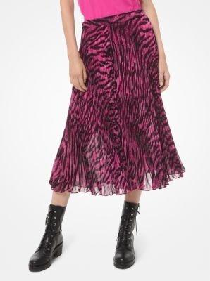 斑马纹复古半身裙