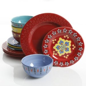 GibsonBOHO Chic 12-pc Dinnerware Set