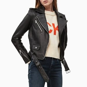 Calvin KleinTake $50 Off Every $125 SpentLeather Biker Jacket