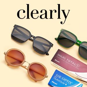 送免费墨镜+免邮Clearly 隐形眼镜热卖 美瞳电眼遇上时尚墨镜 让你夏日无忧