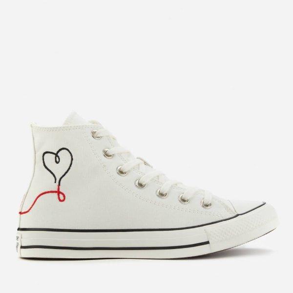 爱心帆布鞋