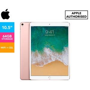 AppleWiFi + 蜂窝版 玫瑰金10.5-Inch iPad Pro 64GB