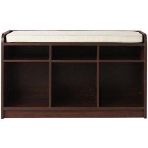 $38.39(原价$69)坐着换鞋!Martha Stewart Living™ 储物凳/鞋凳,Dark Cherry色