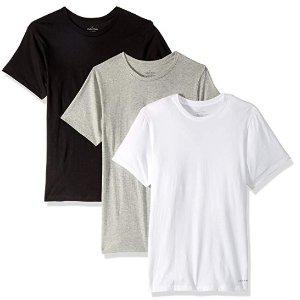 $21.38(原价 $39.50)Calvin Klein 男士黑白灰T恤3件套促销