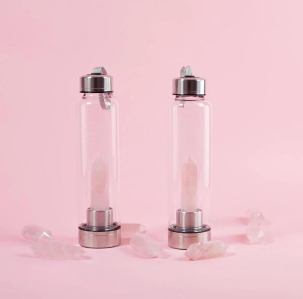 Skin Gym 天然玫瑰石英水晶瓶