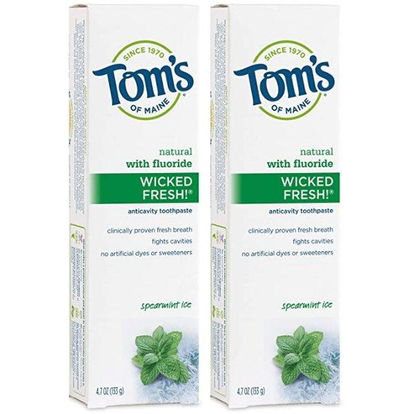 含氟薄荷味牙膏 4.7 oz. 2支