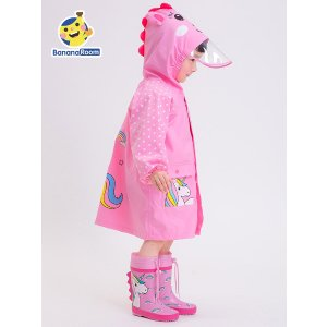 独角兽透气防风儿童雨衣