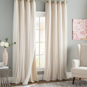 WayfairBrockham Solid Blackout Thermal Grommet Curtain Panels