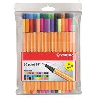 STABILO Point 88 Fineliner Pens 0.4m 30 color wallet set