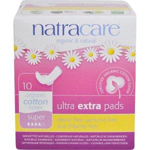 Natracare超薄有机卫生巾 10张