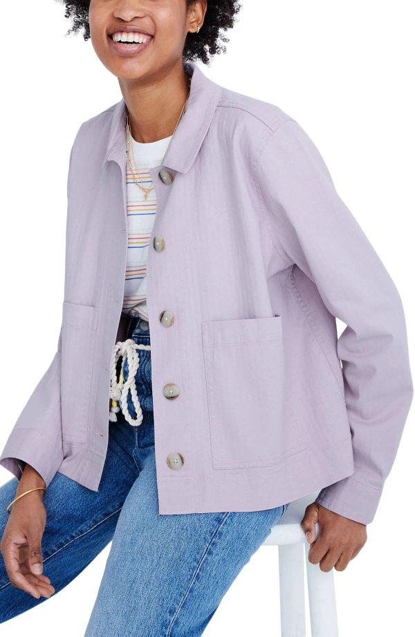 香芋紫工装夹克