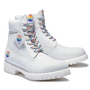 €220拿下限量款上新:Timberland Pride Month 特别限定款马丁靴 罕见白色骑士靴
