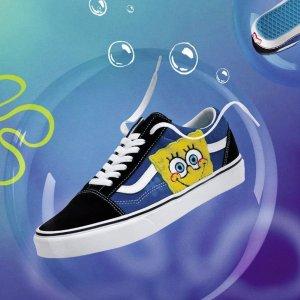 7折 £56收海绵宝宝联名款Vans 双十超强闪促 经典滑板鞋爆款必入