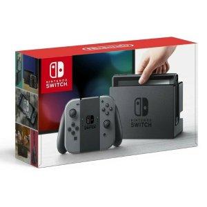 $341(原价$469)回国可退税今天截止:Nintendo任天堂 Switch灰色款游戏主机 手慢无!
