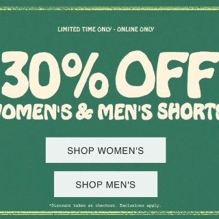 一律7折 $6.99收BDG蝴蝶结短裤Urban Outfitters 男女夏季短裤限时热卖