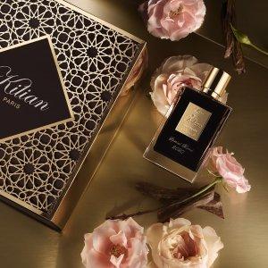 低至$55+送2支香水小样Kilian Paris 全场香氛美妆产品热卖 收超火雕花口红