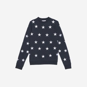 Sweatshirt With Embroidered Stars - Spring-Summer Collection - Sandro-paris.com