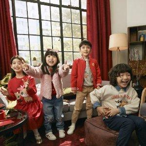 低至6折 $3.49收印花T恤牛年大吉:H&M 新年儿童服饰开卖 红红火火过春节