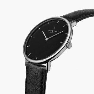 NordgreenNative | Black Dial - Black Leather - Nordgreen Global