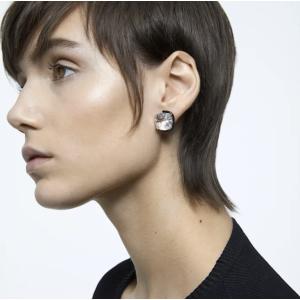 SwarovskiHarmonia Earrings, Cushion cut crystals, White, Mixed metal finish by SWAROVSKI