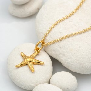 Lily charmedPersonalised Gold Plated Starfish Necklace