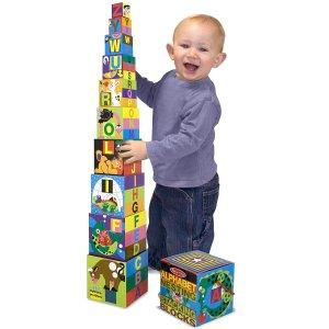 4.6折起,封面字母叠叠乐$7史低价:Melissa & Doug 精选儿童益智类玩具热卖,一日闪购