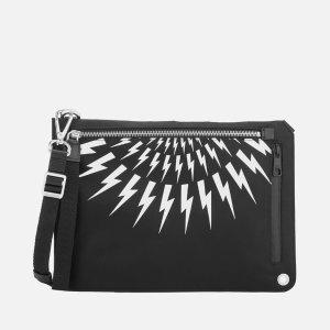 Neil BarrettMen's Sacoche Bag - Black/White