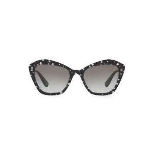 Miu Miu满$250减$25猫眼墨镜