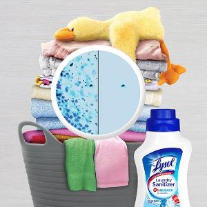 1.2升装$6.99补货:Lysol 衣物除菌液   洗衣时轻松除菌 儿童可用