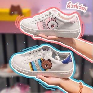 超萌小白鞋€52.8起斯凯奇 X Line Friends 联名系列超值收 布朗熊、可妮兔来啦