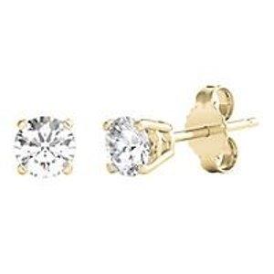 Forever One® 1 ct. tw. Moissanite Stud Earrings in 14K Yellow Gold