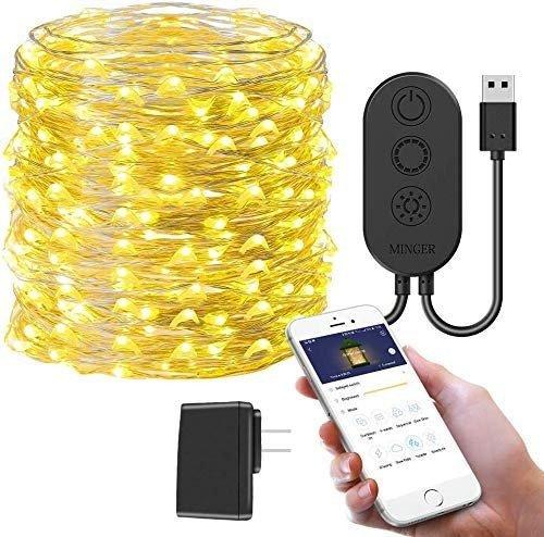 10米App智能控制暖白铜线灯