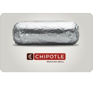 Only $20!Buy a $25 Chipotle Gift Card @ ebay