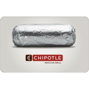 现价$20(原价$25)Chipotle $25礼卡限时优惠