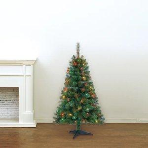 Ashland4英尺高带灯圣诞树