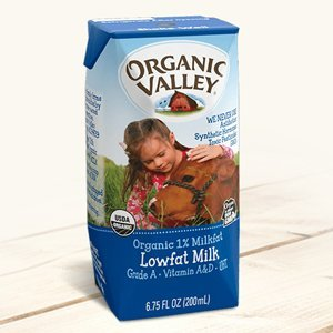 $11.11Organic Valley 有机1%低脂牛奶 6.75 oz 12盒