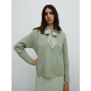 EDITED抹茶绿毛衣