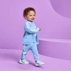 $12.60收经典T恤,低至6折最后一天:Adidas 暴走小孩套装 大童小童一单收 解决搭配困难户
