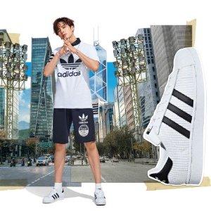 67折 正价+折扣区都参加!adidas Superstar 系列精选美鞋闪促  鹿晗、Baby、王嘉尔同款