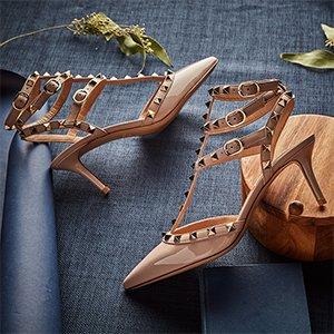 无门槛6折  直邮全球11.11独家:TESSABIT年度重磅折扣 Valentino铆钉鞋$578码全