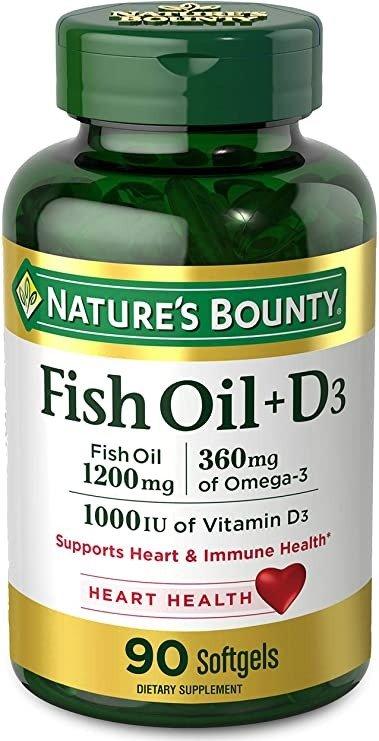 鱼油+D3 90粒