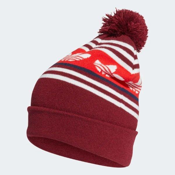 Adicolor Jacquard Pompom 编织帽子