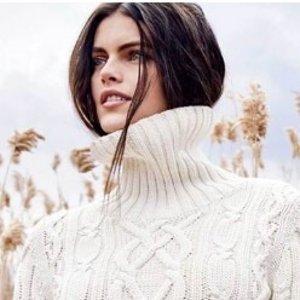 3折起 £18收封面毛衣LANDS END 厚实的针织毛衣