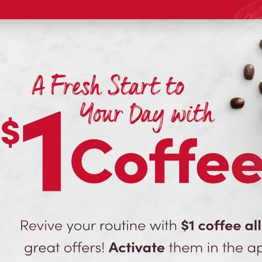 Tim Hortons 本周$1的咖啡Tim Hortons 本周$1的咖啡