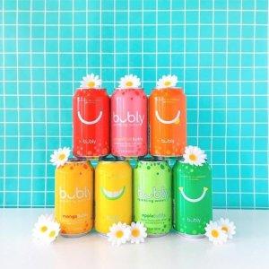 18罐$7.23起 一罐仅$0.4bubly 水果味气泡水多口味 12oz 18罐