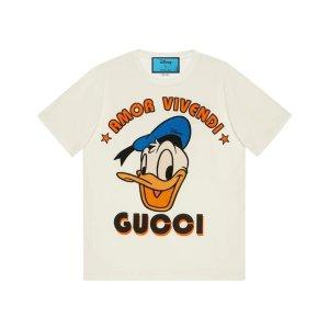 Gucci100%全棉!仅剩S码Disney x Gucci  唐老鸭T恤