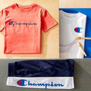 低至$5.99最后一天:Champion 儿童服饰特卖 大童款成人也能穿