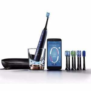 $204.99 Philips Sonicare DiamondClean Smart Electric, Rechargeable toothbrush for Complete Oral Care, with Charging Travel Case, 5 modes, and 8 Brush Heads - 9700 Series, Lunar Blue, HX9957/51