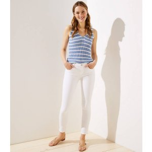 LOFTSlim Pocket Skinny Jeans in White   LOFT